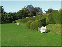 TQ1352 : Polesden Lacey croquet lawn by Alan Hunt
