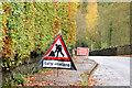 "J3067 : ""Gulley emptying"" road sign, Dunmurry (October 2014) by Albert Bridge"