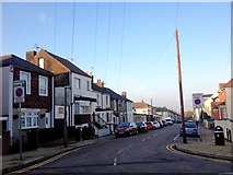 TQ7668 : Saxton Street, Gillingham by Chris Whippet