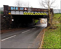 SS8591 : Not Bob Dylan Bridge, Maesteg by Jaggery