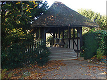 TQ1352 : Thatched bridge, Polesden Lacey by Alan Hunt