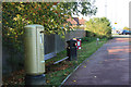 SP8211 : Stoke Mandeville gold postbox by Oast House Archive