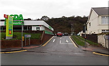 SS8591 : Access road to Maesteg railway station by Jaggery