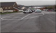 SS8591 : Asda car park, Maesteg by Jaggery