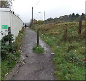 SS8591 : Track west to Asda's car park, Maesteg by Jaggery