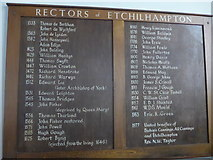 SU0460 : St Andrew, Etchilhampton: incumbency board by Basher Eyre