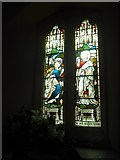 SU0460 : St Andrew, Etchilhampton: stained glass window (I) by Basher Eyre