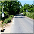 SO7408 : Rural bus stop and timetable, Fretherne by Jaggery