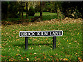 TM2199 : Brick Kiln Lane sign by Adrian Cable