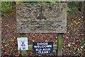 NT6224 : Millennium woodland sign, Ancrum by Jim Barton