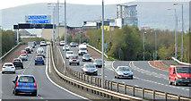 J3574 : The M3 and Sydenham bypass, Belfast (November 2014) by Albert Bridge