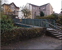 SS8591 : River footbridge to Commercial Street, Maesteg by Jaggery
