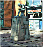 SK5319 : Sculpture at Loughborough Library by Thomas Nugent