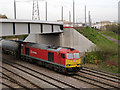 SK5538 : Under the tramway bridge by Alan Murray-Rust