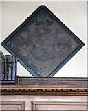 TQ3379 : St Mary Magdalen, Bermondsey - Hatchment by John Salmon