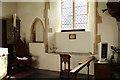 TL8756 : St Nicholas, Stanningfield - Piscina & sedilia by John Salmon