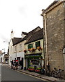 ST9387 : Cycles and cyclists outside a Malmesbury bistro by Jaggery