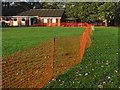 SU9459 : Firework display safety fencing by Alan Hunt
