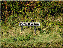 TM1678 : Lower Street sign by Adrian Cable