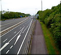 ST5689 : Old Severn Bridge footpath and cycleway, Aust by Jaggery