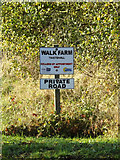 TM1888 : Walk Farm sign by Adrian Cable