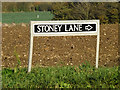 TM1888 : Stoney Lane sign by Geographer
