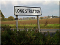 TM1990 : Long Stratton Village Name sign by Adrian Cable