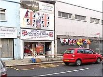J3674 : The Union Jack Souvenir Shop in Newtownards Road by Eric Jones