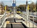 SJ8188 : Metrolink Airport Line, Tram Approaching Martinscroft by David Dixon