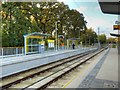 SJ8386 : Metrolink Airport Line, Peel Hall Tram Stop by David Dixon