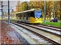 SJ8386 : Metrolink Airport Line, Simonsway by David Dixon