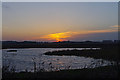 TM4766 : Sunset from the South Hide, Minsmere by Ian Taylor