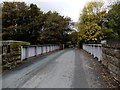 SJ2837 : Road bridge over Chirk railway station by Jaggery
