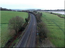 ST5491 : Railway towards Chepstow by Jaggery