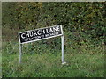TM2093 : Church Lane sign by Adrian Cable