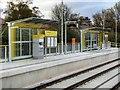 SJ8385 : Shadowmoss Tram Stop (Inbound) by David Dixon