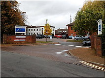 SP4539 : Main entrance to The Horton General Hospital in Banbury by Jaggery