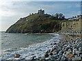 SH5037 : Beach and Criccieth Castle by Robin Drayton