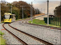 SJ8092 : Metrolink Airport Line, Mersey Valley by David Dixon