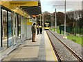SJ8092 : Sale Water Park Metrolink Stop by David Dixon