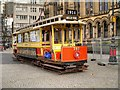 SJ8398 : Vintage Tram Outside Manchester Town Hall by David Dixon