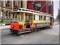 SJ8398 : Vintage Tram in Albert Square by David Dixon