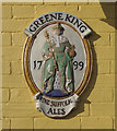 TM2748 : Greene King brewery plaque by Ian Taylor