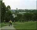 TQ2783 : Midsummer Madness (4): pushing up Primrose Hill by Stephen Craven