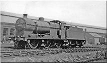 TQ2182 : LMS Fowler 4F 0-6-0  at Willesden Depot, 1947 by Ben Brooksbank