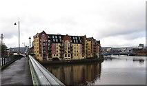 J3473 : St John's Wharf Apartments from the Albert Bridge by Eric Jones