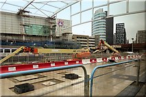 SJ8499 : New Metrolink Platform Under Construction at Manchester Victoria Station by David Dixon