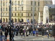 SJ8498 : 2014 Remembrance Sunday Ceremony, St Peter's Square by David Dixon