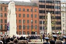 SJ8398 : Remembrance Ceremony, Manchester Cenotaph by David Dixon