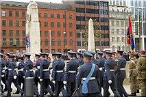 SJ8398 : March Past the Cenotaph by David Dixon